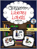 Classroom Library Labels {Navy}