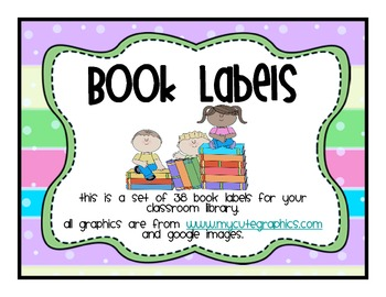 Classroom Library Labels Neon Bubble Stripe