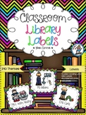 Classroom Library Labels {Neon Chevron}