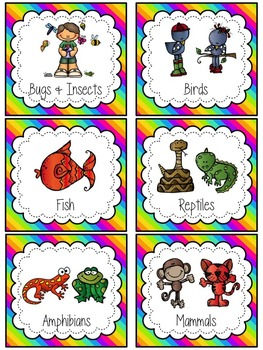Classroom Library Labels {Neon Rainbow}