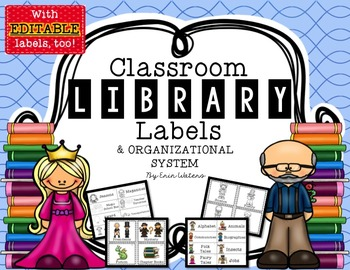 Classroom Library Labels & Organization System