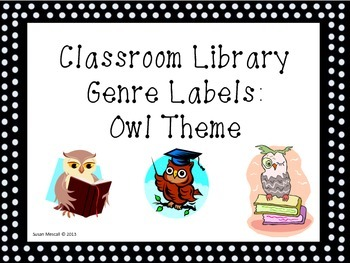 Classroom Library Labels: Owls
