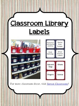 Classroom Library Labels {Patriotic Theme}