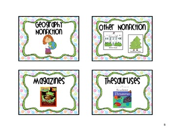 Classroom Library Labels Peace Sign