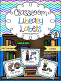 Classroom Library Labels {Peacock Chevron}