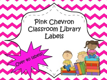 Classroom Library Labels {Pink Chevron}