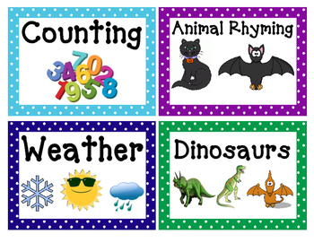 Classroom Library Labels (Polka Dot Pattern)