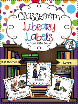 Classroom Library Labels {Primary Polka Dots}