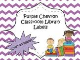 Classroom Library Labels {Purple Chevron}