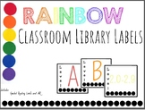 Classroom Library Labels - Rainbow