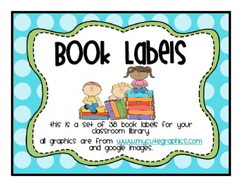 Classroom Library Labels Rainbow Blue Green