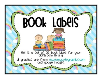 Classroom Library Labels Rainbows