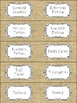 Classroom Library Labels: Rustic Burlap Edition