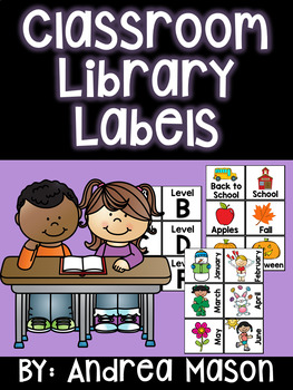 Classroom Library Labels Set