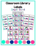Classroom Library Labels - Simple Theme