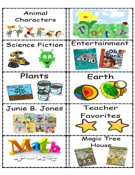 Classroom Library Labels- Small