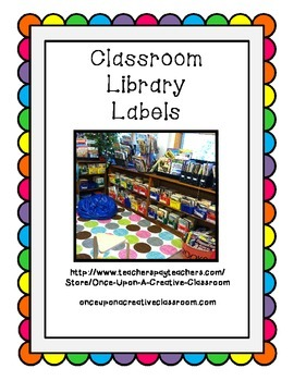 Classroom Library Labels - Sort your books by Genre!