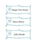Classroom Library Labels- Star or Space Theme (blue)