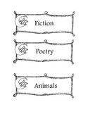 Classroom Library Labels- Star or Space Theme