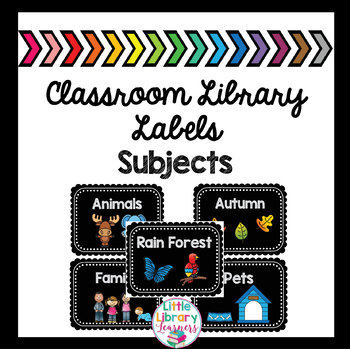 Classroom Library Labels- Subject Labels