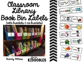 Classroom Library Book Bin & Book Labels Bundle