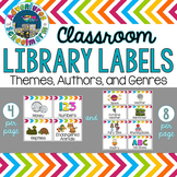 Classroom Library Labels {Topics, Themes, Genres, Authors, Illustrators}