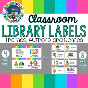 Classroom Library Labels {Topics and Themes}
