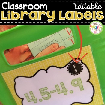 Classroom Library Labels Various Colors EDITABLE