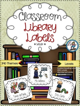 Classroom Library Labels {White}