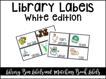 Classroom Library Labels- White