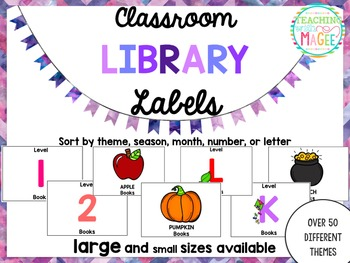 Classroom Library Labels (White Background)