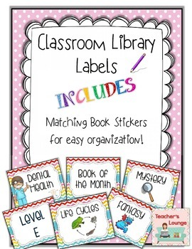 Classroom Library Labels -With EDITABLE Template
