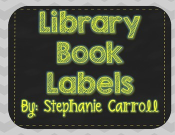 Library Book Labels-Yellow