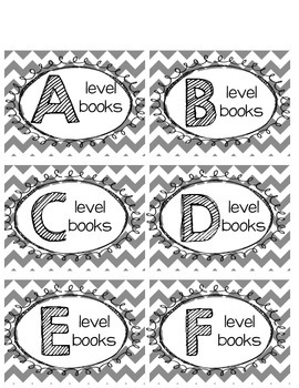 Classroom Library Labels aa-z
