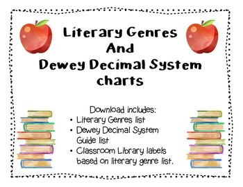 image about Dewey Decimal System Chart Printable known as Dewey Decimal Chart Worksheets Training Supplies TpT