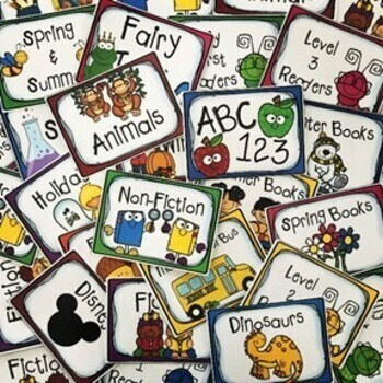 Classroom Library Labels and Stickers
