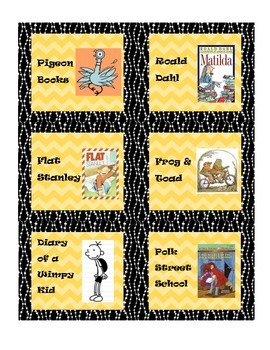 Classroom Library Labels for Bins