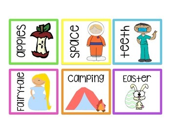 Classroom Library Labels for Bins   Brights