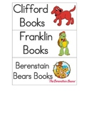 Classroom Library Labels for Book Baskets