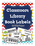 Classroom Library Labels for Books