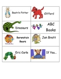 Classroom Library Labels for Browsing Boxes AND Books! Eas