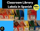 Classroom Library Labels in Spanish  (Tarjetas para libros)