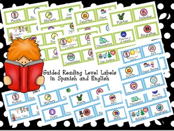 Dual Green and Blue Classroom Library Bin Labels with Matching Book Labels