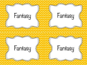 Classroom Library Labels (single-colored)