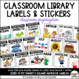 Classroom Library Labels (sized to fit Target's square adhesive labels)