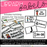 Classroom Library Labels-Library Labels-Book Labels-Editable Portion