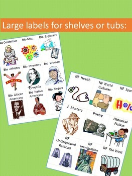 Classroom Library Labels with Individual Book Labels BUNDLE {Editable}