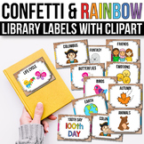 Classroom Library Labels with Pictures - EDITABLE, Modern Farmhouse Decor
