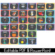 Classroom Library Labels with Pictures, Polka Dot Chalkboard Classroom Decor