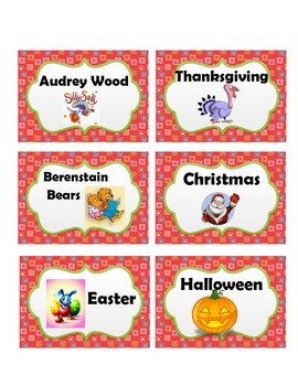Classroom Library Labels with Scalloped Border